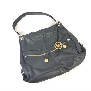 Michael Kors B-0908 satchel pebbled leather zipper